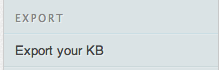 Export your KB