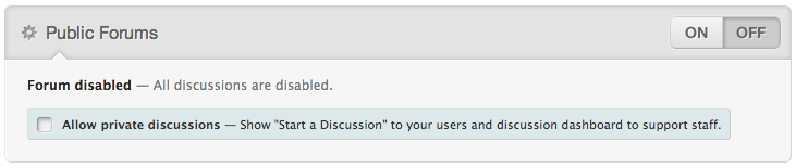 Turn forums off